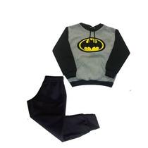Conjunto De Moletom Canguru Infantil Bordado Batman.