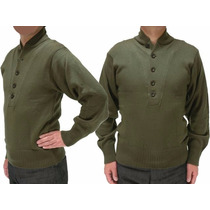 Suéter Modelo Americano Militar Gola V
