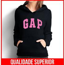 Moletom Gap Rosa Feminino Casaco Canguru/blusa De Frio