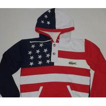 Moletom Lacoste Bandeira Estados Unidos