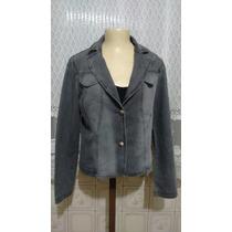 Lindo Cropped Blazer Jeans Feminino Elastano M Usado