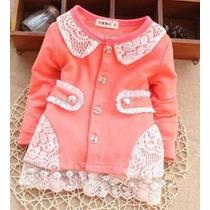 Casaco Infantil Menina Princesa Criança Bebê Pronta Entrega