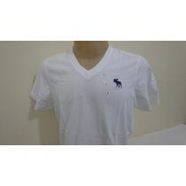 Camiseta Abercrombie Branca Tam G Original Pront Entrega