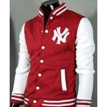 Jaqueta Masculina College New York Ny Yankees