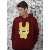 Moletom Canguru Iron Man Blusa Capuz Homem De Ferro