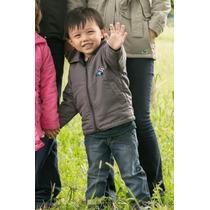 Jaqueta Com Capuz Menino Ou Menina 1 A 3 Anos - Inverno