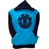 Blusa De Moletom Element Azul Claro E Azul Mar. Elx01