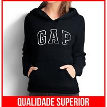 Moletom Gap Feminino Casaco Canguru Blusa De Frio
