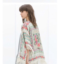 Kimono Quimono Boho Vintage Franja Cardigã Retro Verão 2016