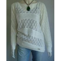 Blusa Casaco Cardigan Suéter Inverno Tricô Linha Lã Rendada