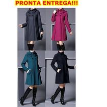Casaco Sobretudo Trench Coat Super Elegante Importado No Br!