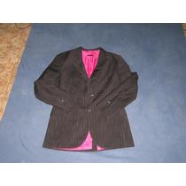Blazer Risca De Giz Fundo Pink Marc Ecko Cut And Sew Tam M