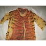 Camisa Feminina Crepe De Seda Estampa Animal Print Tamanho M