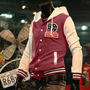 Jaqueta Moleton Masculina Slim Fit, Baseball- Pronta Entrega