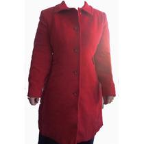 Casaco Importado Longo De Lã Vermelha Moda 2014