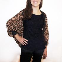 Cardigan Chifon Importado- Oncinha / Leopard- Pronta Entrega