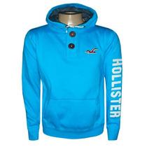 Blusa De Moletom Hollister Azul Bb Hlj