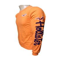 Camisa Hollister Manga Longa Laranja - Hl009