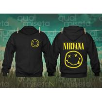 Jaqueta Moletom Nirvana Bandas Rock Capuz Casaco