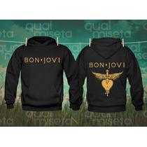Canguru Moleton Bon Jovi Bandas Casaco Capuz Bolsos