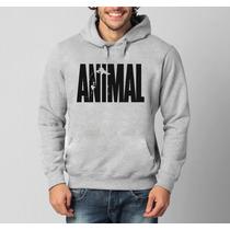 Blusa Animal Fitness Academia Musculação Canguru Com Capuz