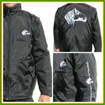 Jaqueta Impermeável Bordado Cavalo Crioulo Unissex Colete