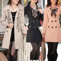 Trench Coat/casaco Importado Cor Bege Com Lenço De Onça
