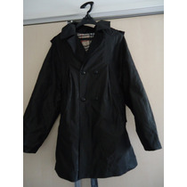 Sobretudo/trench Coat/ Casaco Preto M/g