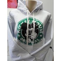 Blusa Mickey Mouse Starbucks Moletom Canguru - Promoção !!!