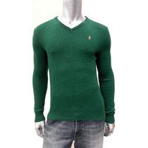 Sweater Verde Polo Ralph Lauren 100% Lã, Novo, Frete Grátis