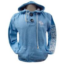 Blusa De Moletom Abercrombie Azul Bb Ref Afj Original