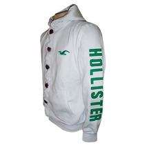 Blusa De Moletom Holister Branca Hlj14 Original