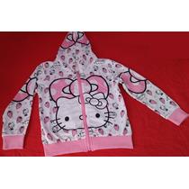 Blusa Hello Kitty Com Capuz Infantil Moletom Pronta Entrega