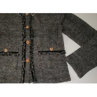 Casaqueto Tweed Casaco Veludo