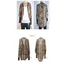 Cardiga Leopardo, Um Charme, Moderno, Casual