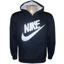 Blusa Moletom Nike Canguru Preto Nk7