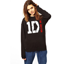 Blusa Moletom One Direction Gola Redonda - Pronta Entrega!
