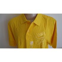 Camisa Polo Eckounltd Tamanho G Cor Amarela Original