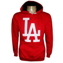 Blusa Moletom Los Angeles Dodgers Baseboll Vermelha La