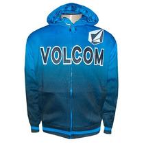 Jaqueta Volcom Azul Degrade Forrada