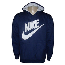 Blusa Moletom Nike Canguru Azul Marinho Nk7
