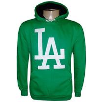 Blusa Moletom Los Angeles Dodgers Baseboll Verde La