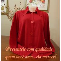 Blusa Casaco Cardigan Sobretudo Feminino Tricô Renda Lã Frio