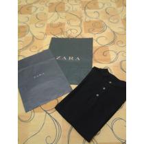 Camisa Polo Zara Man Tananho G Preto Novo Com Sacola
