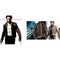 Jaqueta Wolverine Xmen Couro Legítimo Brinde Luva Boné Couro