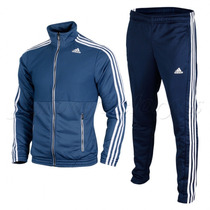 Agasalho Adidas Masculino Train Knit Azul Original
