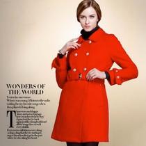 Sobretudo Importado Gg Luxuoso Refinado Elegante Lã Vermelho