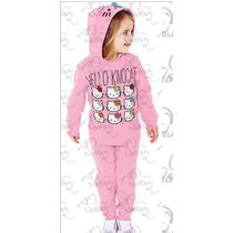 Conjunto Moleton Lixado Hello Kitty - Infantil