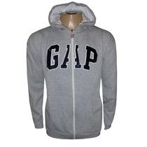 Blusa Moletom Gap Cinza Com Zíper