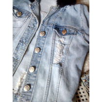 Jaqueta Jeans Trabalhada - Destroyed ( Linda)